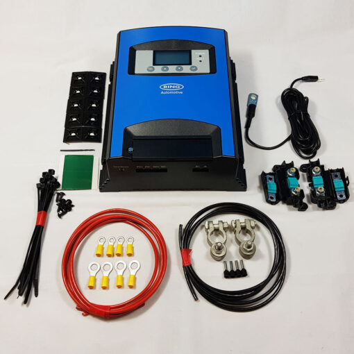 7 mtr Split Charge Kit 12V 140 Amp Durite Voltage Sense Relay 110amp cable T4 T5